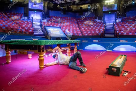Exclusive - Betfred World Snooker Championship, Preparations