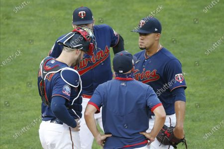 Editorial image of Indians Twins Baseball, Minneapolis, United States - 30 Jul 2020