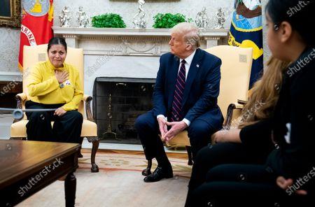 Editorial photo of Trump Meets Gloria Gullen, Washington, District of Columbia, USA - 30 Jul 2020