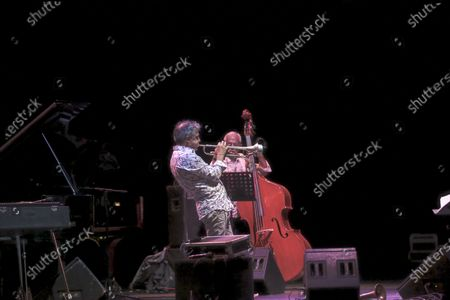 """Roberto Negro, Emile Parisien, Michele Raccia Trio and Paolo Fresu Quintet, Filippo Vignato at Cavea PDM on the occasion of the Festival """"Una Striscia Fonda di Terra 2020"""" in Rome. Artistic direction of the review of jazz and improvised music are Paolo Damiani and Armand Meignan. This year the artistic directors have awarded Roberto Negro with the plaque to the New Talents 2020 """"for his original compositional research""""."""