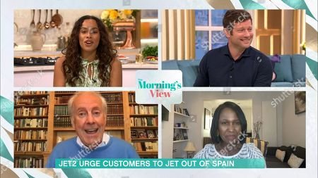 Rochelle Humes, Dermot O'Leary, Gyles Brandreth and Michelle Gayle