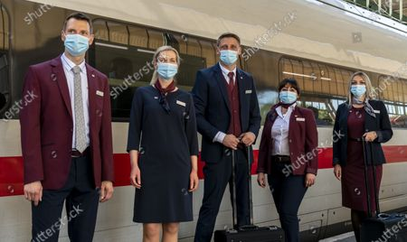 Editorial image of Presentation of the new uniforms at German Railway in Stuttgart, Germany - 31 Jul 2020