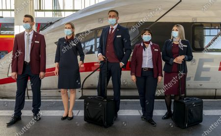Editorial photo of Presentation of the new uniforms at German Railway in Stuttgart, Germany - 31 Jul 2020