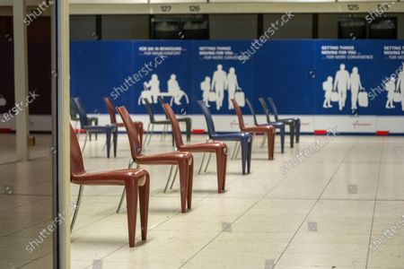 Corona test center for returning travelers in the Tango Terminal at Airport Helmut Schmidt, Hamburg, Germany