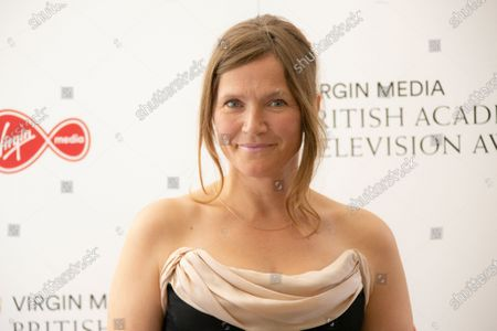 Stock Image of Actress Jessica Hynes poses for photographers as they arrive for the British Academy Television Awards at the Television Centre in west London