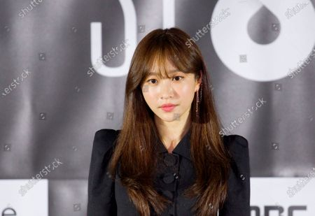 """Hani (EXID) : South Korean singer and actress Hani (EXID) or Ahn Hee-Yeon attends a press conference for """"White Crow"""", an episode of drama """"SF8"""" in Seoul, South Korea. Cinematic drama SF8 is the Korean equivalent of the """"Black Mirror"""" anthology series. It is comprised of eight episodes and unravels philosophical questions throughout each episode's futurist premise including the presence of virtual reality and artificial intelligence. The anthology piece was created by eight different directors and is a crossover project among the Directors Guild of Korea, MBC, Wavve and Soo Film."""