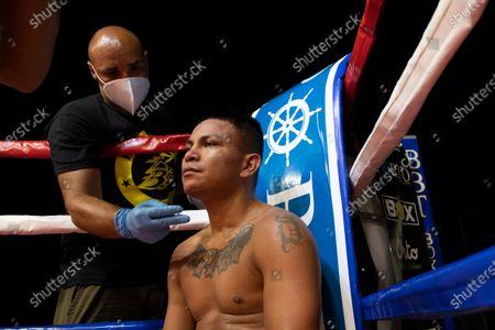 Editorial image of The featherweight Mondongo beats Castillo, Rome, Italy - 30 Jul 2020