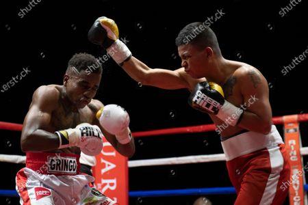 Stock Image of The featherweight Christopher Mondongo beats Rafael Castillo.