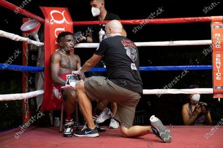 Stock Picture of The featherweight Christopher Mondongo beats Rafael Castillo.
