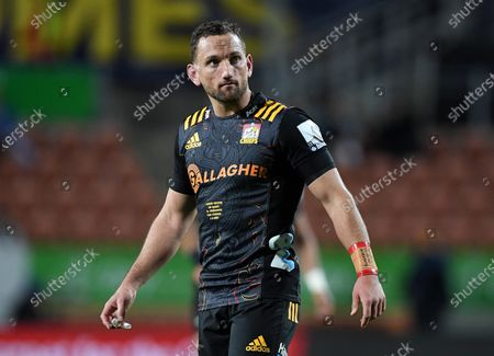 Stock Picture of Chiefs vs Crusaders. Chiefs' Aaron Cruden while playing his 100th game for the Chiefs