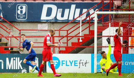 Shelbourne vs Waterford. Waterford's John Martin celebrates scoring a goal