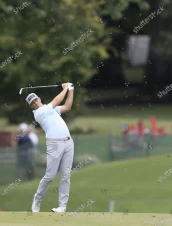 Michael Thompson of the US hits on the first hole during the third round of the World Golf Championships-FedEx St. Jude Invitational golf tournament at TPC Southwind in Memphis, Tennessee, USA, 01 August 2020. Competition runs from 30 July through 02 August without fans in attendance.