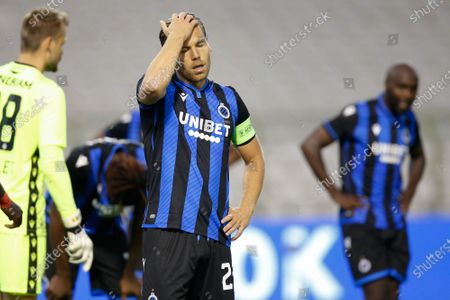 Club's Ruud Vormer looks dejected during the 'Croky Cup' Belgian cup final between Club Brugge KV and Royal Antwerp FC, Saturday 01 August 2020 in Brussels.