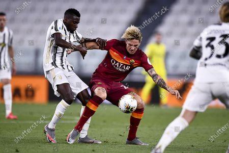 Blaise Matuidi (Juventus) Nicolo Zaniolo (Roma)