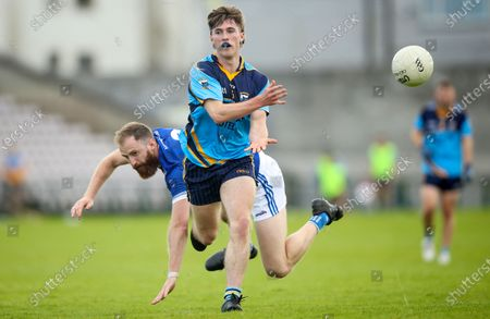 Salthill Knocknacarra vs St Michael's. Salthill's Cathal Sweeney with David Cunnane of St Michael's