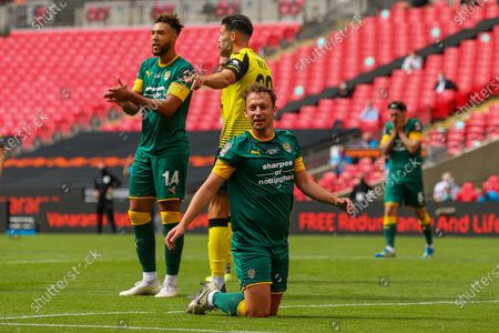 Notts County midfielder Michael Doyle (8) during the Vanarama National League Promotion Final match between Harrogate Town and Notts County at Wembley Stadium, London