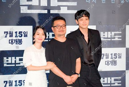 "Editorial image of Press conference for Korean movie ""Peninsula"" in Seoul, Seoul, South Korea - 09 Jul 2020"