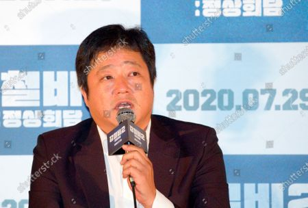 "Kwak Do-Won : South Korean actor Kwak Do-Won attends a press conference for Korean movie ""Steel Rain 2: Summit"" in Seoul, South Korea. The action adventure film dramatizes a tripartite summit in North Korea to end the Korean War and clinch a peace treaty."