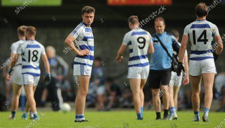 Breaffy vs Westport GAA. Breaffy's Michael Hall dejected