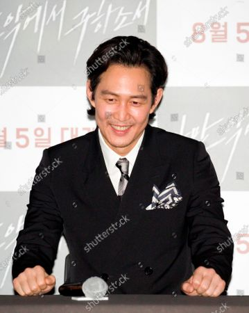 "Lee Jung-Jae : South Korean actor Lee Jung-Jae attends a press conference after a press screening for Korean movie ""Deliver Us From Evil"" in Seoul, South Korea. The action thriller's background is Japan, South Korea and Thailand."