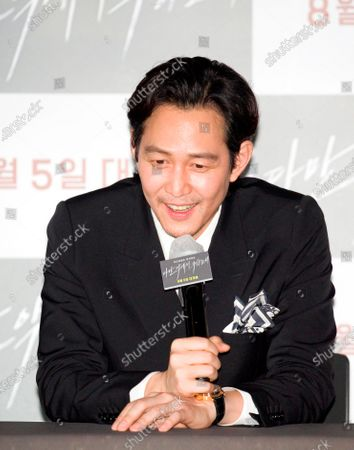 """Editorial picture of Press conference for Korean movie """"Deliver Us From Evil"""" in Seoul, Seoul, South Korea - 28 Jul 2020"""