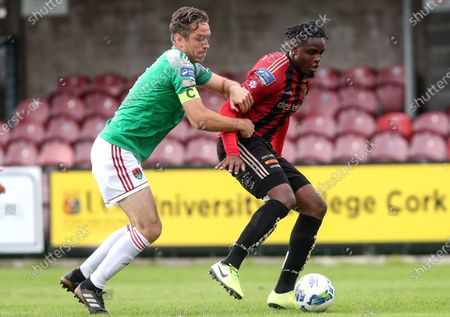 Cork City vs Bohemians. Cork City's Alan Bennett is tackled by Andre Wright of Bohemians