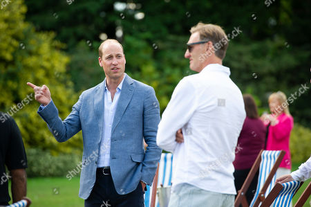 Prince William with former Arsenal player Tony Adams