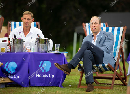 Prince William watches with Tony Adams as Chelsea score
