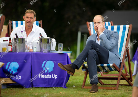 Stock Image of Prince William watches with Tony Adams as Chelsea score