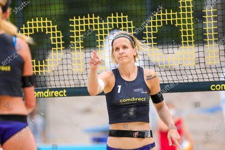 Stock Image of Laura Ludwig; comdirect beach tour 2020 - Duesseldorf 3, 01.08.2020 am 01.08.2020 im Arena Sportpark in Duesseldorf