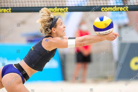 Laura Ludwig; comdirect beach tour 2020 - Duesseldorf 3, 01.08.2020 am 01.08.2020 im Arena Sportpark in Duesseldorf