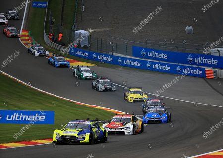 Mike Rockenfeller (DEU#99), Audi Sport Team Phoenix, Sheldon van der Linde (ZAF#31), BMW Team RBM, Philipp Eng (AUT#25), BMW Team RBM, Lucas Auer (AUT#22), BMW Team RMR, Timo Glock (DEU#16), BMW Team RMG, Jamie Green (GBR#53), Audi Sport Team Rosberg, Marco Wittmann (DEU#11), BMW Team RMG, Fabio Scherer (CH#13), WRT Team Audi Sport, Jonathan Aberdein (ZAF#27), BMW Team RMR