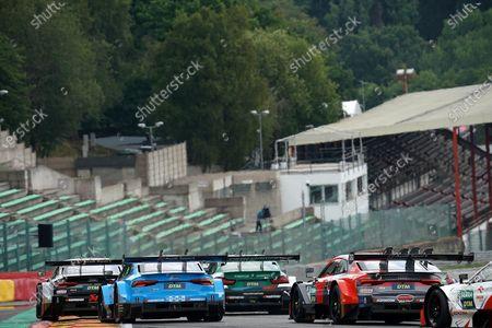 Fabio Scherer (CH#13), WRT Team Audi Sport, Marco Wittmann (DEU#11), BMW Team RMG, Loic Duval (FRA#28), Audi Sport Team Phoenix, Robert Kubica (POL#8), ART Grand Prix, Jamie Green (GBR#53), Audi Sport Team Rosberg