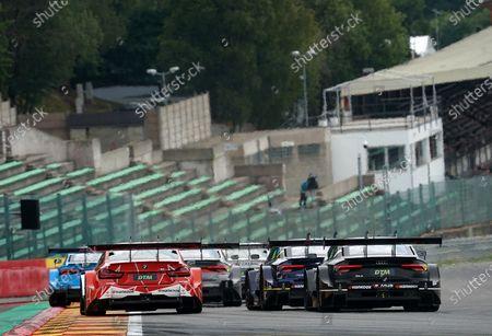 Fabio Scherer (CH#13), WRT Team Audi Sport, Marco Wittmann (DEU#11), BMW Team RMG, Loic Duval (FRA#28), Audi Sport Team Phoenix, Robert Kubica (POL#8), ART Grand Prix, Jamie Green (GBR#53), Audi Sport Team Rosberg, Harrison Newey (GBR#10), WRT Team Audi Sport