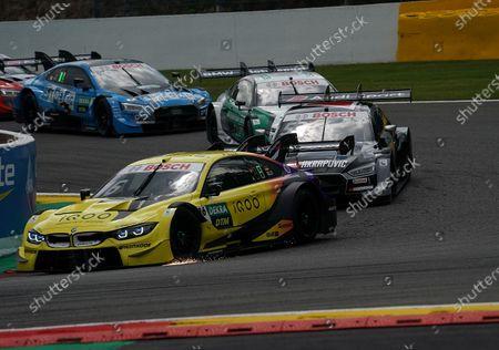 Timo Glock (DEU#16), BMW Team RMG, Jamie Green (GBR#53), Audi Sport Team Rosberg, Marco Wittmann (DEU#11), BMW Team RMG, Fabio Scherer (CH#13), WRT Team Audi Sport
