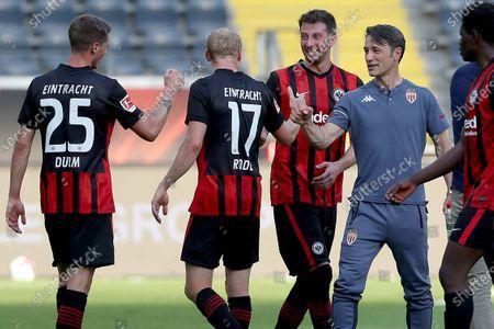 Niko Kovac, Sebastian Rode, Erik Durm and David Abraham