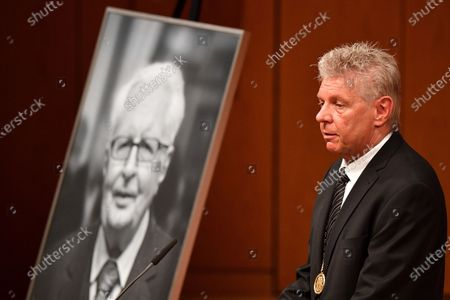 Munich's mayor Dieter Reiter speaks during a mourning service for deceased SPD politician Hans-Jochen Vogel in Munich, Germany, 03 August 2020. Vogel, who was  mayor of Munich and Berlin among other political and party offices, died at age 94 on 26 July in Munich.