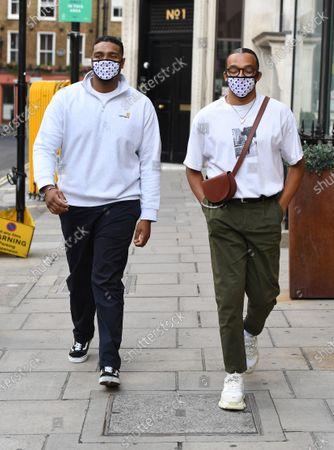 Editorial photo of Jordan Banjo and Perri Kiely start new job on KISS Breakfast show, London, UK - 03 Aug 2020