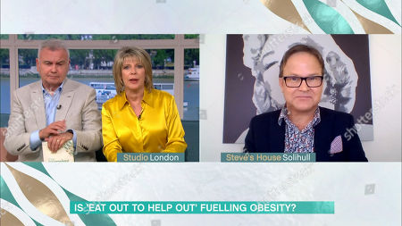 Stock Image of Eamonn Holmes, Ruth Langsford and Steve Miller