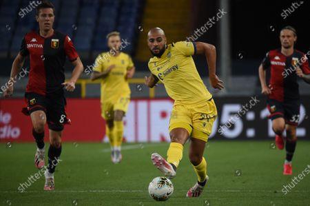 Sofyan Amrabat (Verona) during Genoa vs Hellas Verona, italian Serie A soccer match in Genova, Italy, August 02 2020