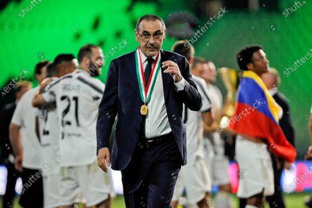 Juventus FC coach Maurizio Sarri after winning the Serie A Championship