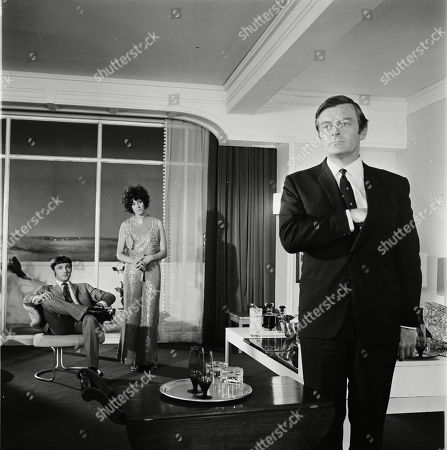 Stock Picture of David Sumner as Dr. Wolf, Sue Lloyd as Brigitte and Neil Hallett as Dr. Lang