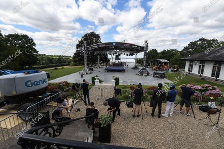 Stock Image of Eddie Hearn has revealed talks are under way for the £5million Fight Camp experiment in his garden to be replicated next year. The promoter launches the first of four shows from the back yard of the Matchroom HQ in Brentwood, Essex, tonight and plans are taking shape to expand the concept. They include a return next summer with the possible addition of a reality TV series following fighters in the build-up.