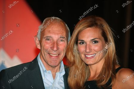 Amgen Tour of California 2011 Gala Phil Liggett Announcer and TV contiuity girl Kelly GREEN Medalist Sports
