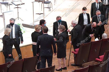 Franziska Giffey, Hubertus Heil, Gerhard Schroeder