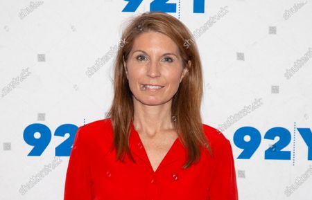 """Nicolle Wallace poses backstage at the 92nd Street Y, in New York. MSNBC has shuffled its daytime lineup, doubling Wallace's workload and moving Chuck Todd's """"Meet the Press Daily"""" program from 5 p.m. ET to 1 p.m. Wallace's program will increase by an hour and run from 4 to 6 p.m. Wallace, the former Bush administration communications official and fierce critic of President Donald Trump, had been drawing a bigger audience than Todd"""