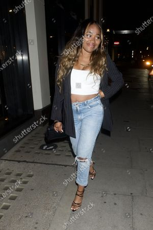 Editorial photo of Jourdan Dunn out and about, London, UK - 03 Aug 2020