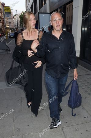 Editorial image of Samantha Womack and Robert Rinder out and about, London, UK - 03 Aug 2020
