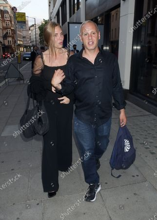 Stock Photo of Samantha Womack and Robert Rinder are seen walking together