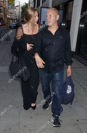 Samantha Womack and Robert Rinder are seen walking together
